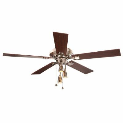 Irondale 52 in. Brushed Nickel Ceiling Fan
